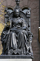 Toronto (ON) CANADA - April 24 2008 File Photo.Statue of the Queen Victoria in front of the Legislative Assembly of Ontario in. Queens Park ( in the Downtown area of Toronto)... Opened in 1860 by Edward, Prince of Wales, it was named in honour of Queen Victoria. The park is the site of the Ontario Legislature, which houses the Legislative Assembly of Ontario, and so the phrase Queen's Park is also frequently used to refer to the Government of Ontario.