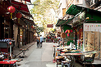 Lascar Row, or Cat Street, Hong Kong
