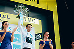 Egan Bernal (COL) Team Ineos retains the young riders White Jersey at the end of Stage 16 of the 2019 Tour de France running 177km from Nimes to Nimes, France. 23rd July 2019.<br /> Picture: ASO/Thomas Maheux | Cyclefile<br /> All photos usage must carry mandatory copyright credit (© Cyclefile | ASO/Thomas Maheux)