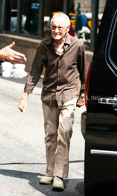WWW.ACEPIXS.COM . . . . .  ....September 3 2011, New York City....Comic book writer Stan Lee on the midtown set of the new movie 'The Avengers' on September 3 2011 in New York City....Please byline: CURTIS MEANS - ACE PICTURES.... *** ***..Ace Pictures, Inc:  ..Philip Vaughan (212) 243-8787 or (646) 679 0430..e-mail: info@acepixs.com..web: http://www.acepixs.com