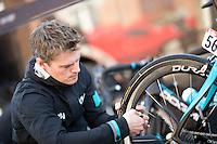 2016 La Fleche Wallonne<br /> Huy, Belgium<br /> 20 April 2016<br /> Ryan Bonser, Team Sky