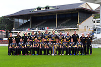 The 2017 Wellington Firebirds team photo at the Basin Reserve in Wellington, New Zealand on Monday, 27 March 2016. Back row, from left: Paul Steele (Physio), Bruce Edgar (Coach), Glenn Pocknall (Assistant Coach), Ollie Newton, Anurag Verma, Iain McPeake, Hamish Bennett, Matt McEwan, Matt Taylor, Richard Petrie (Mental Skills Coach), Greg Butler (Video Analyst), Andrew Smith (Trainer); front row: Peter Younghusband, Luke Ronchi, Steven Murdoch, Brent Arnel, Luke Woodcock, Michael Papps (Plunket Shield Captain), Hamish Marshall (T20 and Ford Trophy Captain), Tom Blundell, Michael Pollard and Fraser Colson. Photo: Dave Lintott / lintottphoto.co.nz