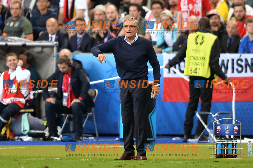 Adam Nawalka (pol) <br /> Paris 16-06-2016 Stade de France Football Euro2016 Germany - Poland / Germania - Polonia Group Stage Group C. Foto Anthony BIBARD / FEP / Panoramic