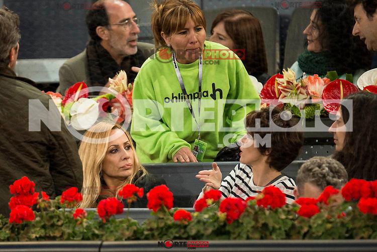 Marta Sanchez and Paz Vega during ATP Semi-Finals Mutua Madrid Open Tennis 2016 in Madrid, May 07, 2016. (ALTERPHOTOS/BorjaB.Hojas) /NortePhoto.com