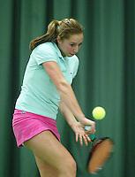 10-3-06, Netherlands, tennis, Rotterdam, National indoor junior tennis championchips, Steffie Weterings