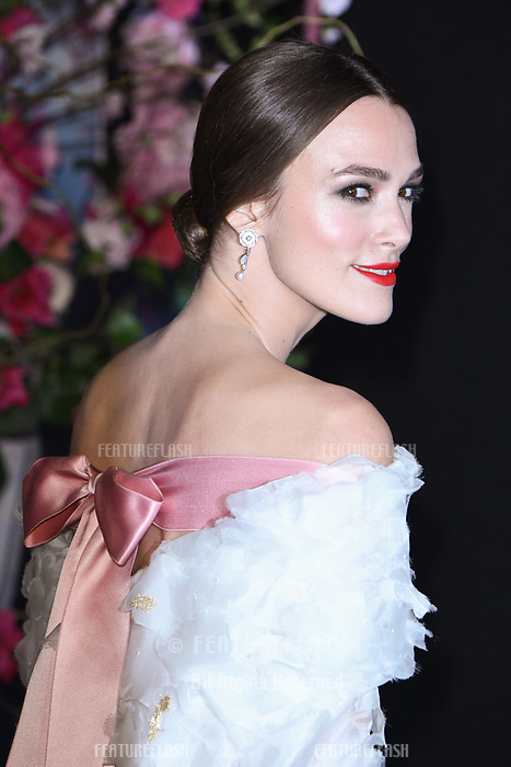 """LONDON, UK. November 01, 2018: Keira Knightley at the European premiere of """"The Nutcracker and the Four Realms"""" at the Vue Westfield, White City, London.<br /> Picture: Steve Vas/Featureflash"""