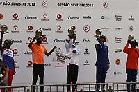 SÃO PAULO,  SP, 31.12.2018 - SÃO-SILVESTRE - Belay Tilahun Bezabh primeiro e Dawit Fikadu Admasu segundo colocado masculino na  Corrida Internacional de São Silvestre na Avenida Paulista em São Paulo nesta segunda-feira, 31.(Foto: Nelson Gariba/Brazil Photo Press)