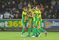 West Bromwich Albion's Ahmed Hegazi (second left) celebrates scoring his side's second goal with team-mates<br /> <br /> Photographer Kevin Barnes/CameraSport<br /> <br /> The EFL Sky Bet Championship - Swansea City v West Bromwich Albion - Wednesday 28th November 2018 - Liberty Stadium - Swansea<br /> <br /> World Copyright © 2018 CameraSport. All rights reserved. 43 Linden Ave. Countesthorpe. Leicester. England. LE8 5PG - Tel: +44 (0) 116 277 4147 - admin@camerasport.com - www.camerasport.com