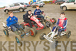 Family Fun Day: Taking part in the family fun day at Kilflynn Hotrod Track on  Sunday were Desmond O'Sullivan, Kilflynn, Jason Power, Ballyduff, Alex Lawlor, Lixnaw &  Ryan Nolan, Kilflynn.