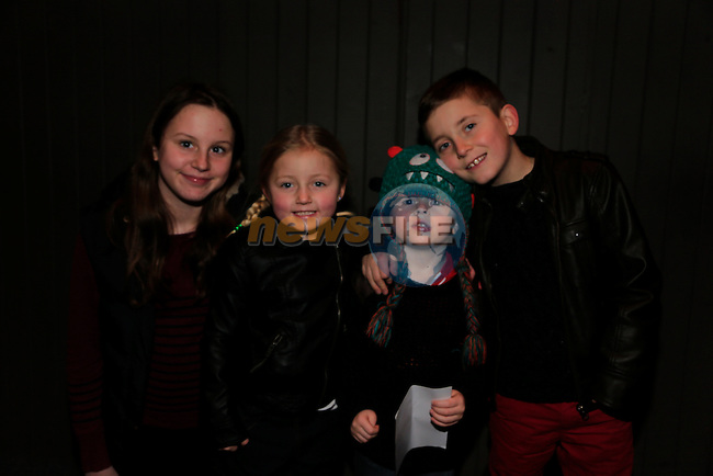 Shannon Reid, Katie Melia, Liam harold Sean Meliam at the  Peter Pan Panto int eh TLT.<br /> Picture: Fran Caffrey www.newsfile.ie