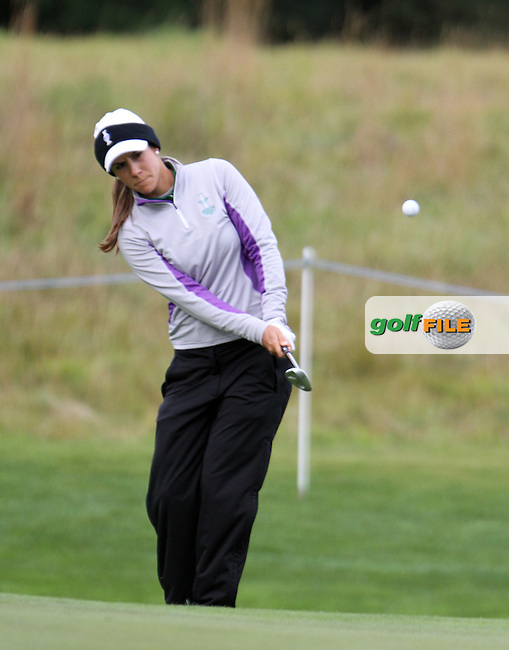 Azahara Munoz (SPA) on Thursday, the third practice day at the 2011 Solheim Cup at Killeen Castle, Co. Meath, Ireland....Photo Golffile/Jenny Matthews.(Photo credit should read Jenny Matthews www.golffile.ie)....This Picture has been sent you under the conditions enclosed by:.Newsfile Ltd..The Studio,.Millmount Abbey,.Drogheda,.Co Meath..Ireland..Tel: +353(0)41-9871240.Fax: +353(0)41-9871260.GSM: +353(0)86-2500958.email: pictures@newsfile.ie.www.newsfile.ie.