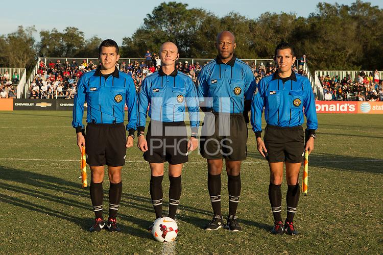 Lakewood Ranch, Fla. - December 13, 2013: 2013 US Soccer U17 Nike International Friendlies. The USMNT U17's defeated the U17's of Brazil 4-1 to win the 2013 Nike International Friendlies at the Premier Sports Campus.