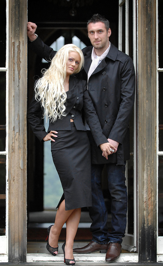 Rangers keeper Allan McGregor and his fiance Leah Shevlin during a photo shoot at Marr Hall.......