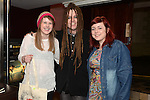Sarah O'Brien and Claire Martin pictured with Duke Special when they played support  at his gig in The Venue at McHugh's. Photo:Colin Bell/pressphotos.ie