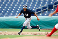 July 10, 2009:  Outfielder Ramon Flores of the GCL Yankees during a game at Bright House Networks Field in Clearwater, FL.  The GCL Yankees are the Gulf Coast Rookie League affiliate of the New York Yankees.  Photo By Mike Janes/Four Seam Images