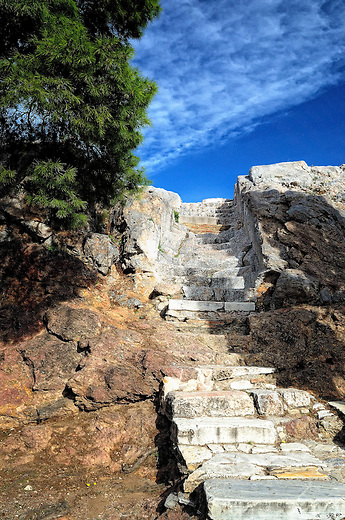 Steps leading to Mars Hill in Athens, Greece