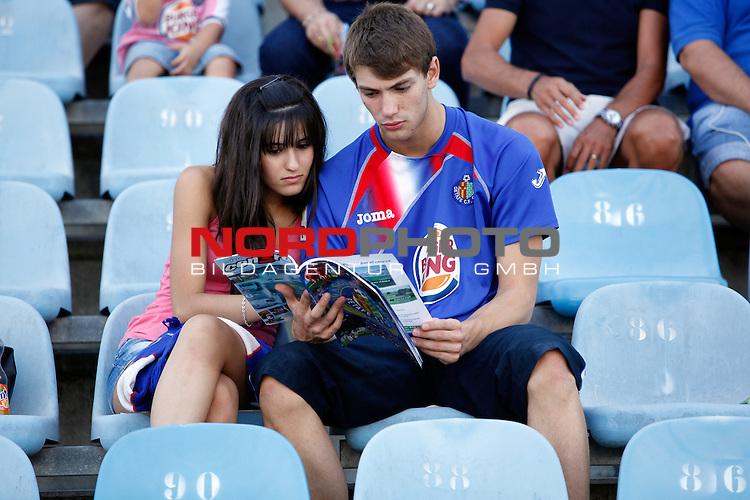 Getafe's  supporters  during La Liga match.August 23,2013. Foto © nph / Victor Blanco)