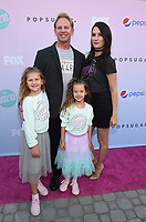 "LOS ANGELES - AUGUST 3:  Ian Ziering, Erin Kristine Ludwig, and daughters Mia Loren Ziering, and Penna Mae Ziering attend the BH 90201 Peach Pit Pop-Up for FOX's ""BH90201"" on August 3, 2019 in Los Angeles, California. (Photo by Frank Micelotta/Fox/PictureGroup)"