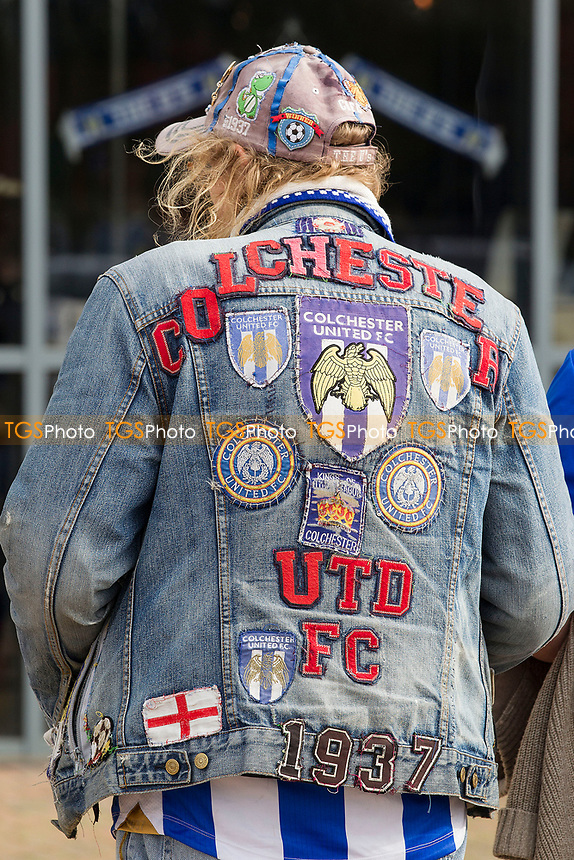 A real U's fan during Colchester United vs Crawley Town, Sky Bet EFL League 2 Football at the JobServe Community Stadium on 13th October 2018