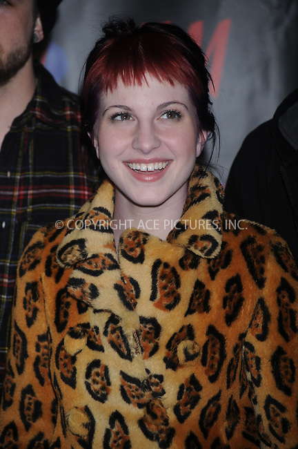 WWW.ACEPIXS.COM . . . . . ....December 12 2008, New York City....Hayley Williams of Paramore in the press room at Z100's Jingle Ball at Madison Square Garden on December 12, 2008 in New York City.....Please byline: KRISTIN CALLAHAN - ACEPIXS.COM.. . . . . . ..Ace Pictures, Inc:  ..tel: (212) 243 8787 or (646) 769 0430..e-mail: info@acepixs.com..web: http://www.acepixs.com