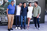 Leonardo Sbaraglia, Rodrigo Grande, Clara Lago and Javier Godino  during the photocall of  Al final del tunel at Warner Bros Espana in Madrid. August 8, 2016. (ALTERPHOTOS/Rodrigo Jimenez)