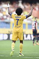 esultanza gol Juan Cuadrado goal celebration<br /> Genova 26-08-2017 Stadio Marassi Calcio Serie A 2017/2018 Genoa - Juventus<br /> Juventus Foto Imagesport/Insidefoto