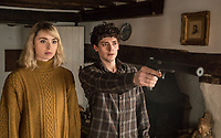 Dead in a Week: Or Your Money Back (2018)<br /> Freya Mavor and Aneurin Barnard<br /> *Filmstill - Editorial Use Only*<br /> CAP/MFS<br /> Image supplied by Capital Pictures