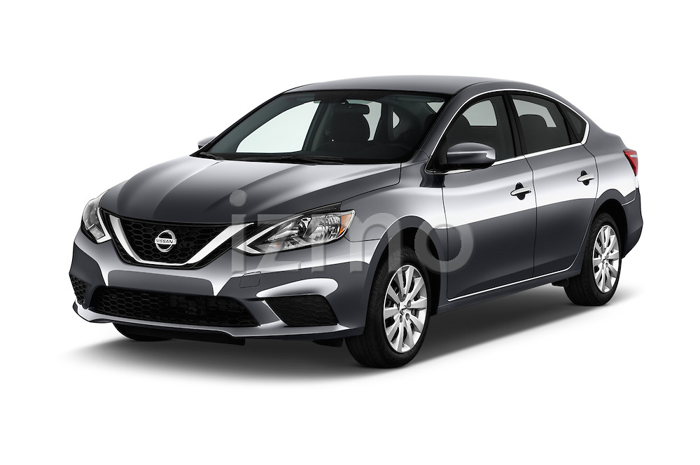 2017 Nissan Sentra SV 4 Door Sedan Angular Front stock photos of front three quarter view