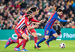 Lionel Andres Messi (r) of FC Barcelona runs past the Atletico de Madrid's players during their Copa del Rey 2016-17 Semi-final match between FC Barcelona and Atletico de Madrid at the Camp Nou on 07 February 2017 in Barcelona, Spain. Photo by Diego Gonzalez Souto / Power Sport Images