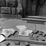 Discarded posters of Hitler, May 1945