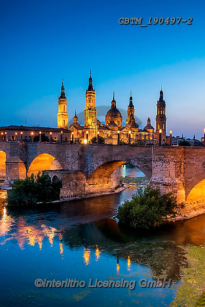 Tom Mackie, LANDSCAPES, LANDSCHAFTEN, PAISAJES, photos,+Aragon, Espana, Europa, Europe, European, River Ebro, Spain, Spanish, Tom Mackie, Zaragoza, architectural, architecture, baro+que, basilica, bridge, bridges, cathedral, cities, city, city break, destination, destinations, heritage, historic, night tim+e, nightscene, pillar, reflect, reflecting, reflection, reflections, river, roman, time of day, tourism, tourist attraction,+tower, towers, travel, upright, urban, vertical, water,Aragon, Espana, Europa, Europe, European, River Ebro, Spain, Spanish,+,GBTM190497-2,#l#, EVERYDAY