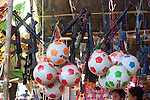 Toy Guns & Soccer Balls At Local Market Near Shwezigon Pagoda