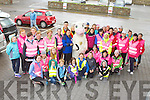 The large crowd that participated in the Centra think pink charity in Glenbeigh on Saturday