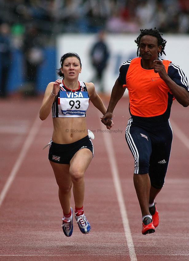 Photo: Paul Thomas..VISA Paralympic World Cup 2007. Athletics. 13/05/2007...Elizabeth Clegg of Great Britain.