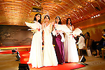Miss Grand Japan 2015 winner Ayaka Tanaka, 2nd from left, and contestants pose during the Miss Grand Japan 2015 contest in Tokyo on August 24, 2015. The 25-year-old nurse from Saitama will represent Japan in the Miss Grand International 2015 contest to be held in Thailand later this year. (Photo by AFLO)
