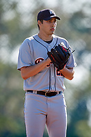 Detroit Tigers pitcher Alex Faedo (21) gets ready to deliver a pitch during a Minor League Spring Training intrasquad game on March 24, 2018 at the TigerTown Complex in Lakeland, Florida.  (Mike Janes/Four Seam Images)