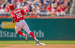 27 July 2013: Washington Nationals shortstop Ian Desmond rounds the bases after hitting a solo home run against the New York Mets at Nationals Park in Washington, DC. The Nationals defeated the Mets 4-1. Mandatory Credit: Ed Wolfstein Photo *** RAW (NEF) Image File Available ***