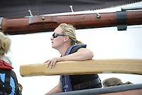 ZEILEN: HEEG: Hegemer Mar, 16-08-2016, IFKS Skûtsjesilen, Alisa Stekelenburg, ©foto Martin de Jong