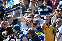 A general view of Bath Rugby supporters in the crowd. Aviva Premiership match, between Bath Rugby and London Irish on May 5, 2018 at the Recreation Ground in Bath, England. Photo by: Patrick Khachfe / Onside Images