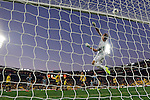 Wellington Phoenix's Glen Moss deflects the ball over the top of bar from a Newcastle United kick in the fourth match of the Football United Tour at Westpac Stadium, Wellington, New Zealand, Saturday, July 26, 2014. Credit: Dean Pemberton