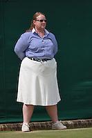 29-06-13, England, London,  AELTC, Wimbledon, Tennis, Wimbledon 2013, Day six, Lineswoman<br /> <br /> <br /> <br /> Photo: Henk Koster