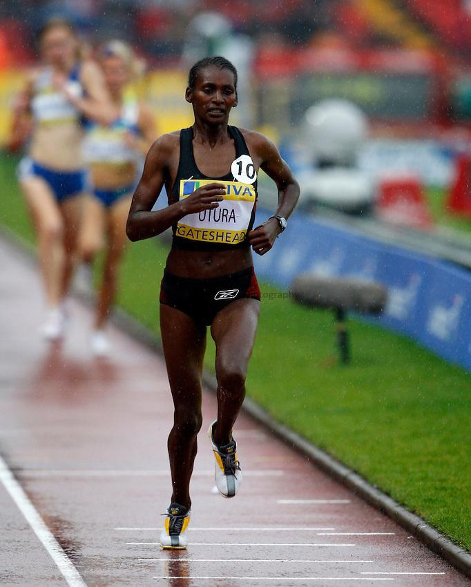 Photo: Richard Lane/Richard Lane Photography. Aviva British Grand Prix, Gateshead. 31/08/2008. Ethiopia's Sule Utura in the women's 3000m.