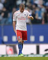 FUSSBALL   1. BUNDESLIGA   SAISON 2012/2013    32. SPIELTAG Hamburger SV - VfL Wolfsburg          05.05.2013 Rafael van der Vaart (Hamburger SV)  ist nach dem Abpfiff enttaeuscht