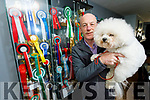 Pat Curran and his bichon frise Max are taking part in Crufts dog show.