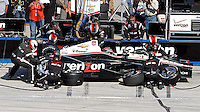 Will Power pit stop, Milwaukee Indy Fest 250, Milwaukee Mile Speedway, Milwaukee, WI, August 2014.  (Photo by Brian Cleary/www.bcpix.com)