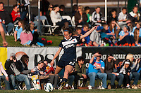 Sky Blue FC midfielder Katy Freels (Frierson) (23). Sky Blue FC defeated the Western New York Flash 1-0 during a National Women's Soccer League (NWSL) match at Yurcak Field in Piscataway, NJ, on April 14, 2013.
