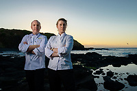 Melbourne, March 28, 2018 - Michael Cole and Laura Skvor pose for a photograph at Flinders, Victoria ahead of competing at the Bocuse d'Or Asia Pacific in Guangzhou, China. Photo Sydney Low.