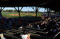 General view of the Lakeland Flying Tigers game against the Tampa Yankees on April 7, 2016 at Henley Field in Lakeland, Florida.  Tampa defeated Lakeland 9-2.  (Mike Janes/Four Seam Images)