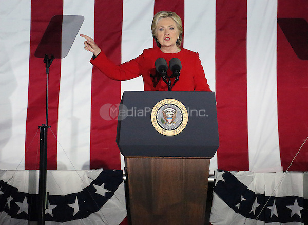 PHILADELPHIA, PA - NOVEMBER 7: Hillary Clinton at the GOTV Rally in support of Hillary Clinton for President at Independence Mall in Philadelphia, Pennsylvania on November 7, 2016. Credit: Star Shooter/MediaPunch