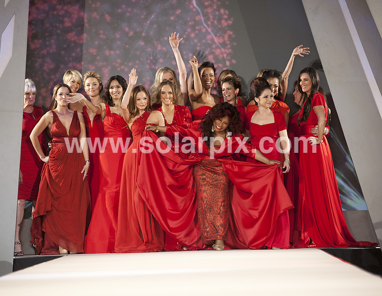 **ALL ROUND PICTURES FROM SOLARPIX.COM**                                             **SYNDICATION RIGHTS FOR UK, AUSTRALIA, DENMARK, PORTUGAL, S. AFRICA, SPAIN & DUBAI (U.A.E) & ASIA (EXCLUDING JAPAN) ONLY**                                                                                  Caption: Fashion runway at the Mercedes-Benz fashion week at the Hammerstein Ballroom in New York City USA                                                                             .This pic: Linda Evans, Jeannette Torres-Alvarez, Jenna Elfman, Elisabeth Rohm, Giselle Blondet, Rebecca Romijn, Chaka Khan, Gloria Estefan, Debbie Phelps and Pa                                                                                             JOB REF:14458        PHZ/Mayer       DATE:08.02.2012                                                            **MUST CREDIT SOLARPIX.COM OR DOUBLE FEE WILL BE CHARGED**                                                                      **MUST AGREE FEE BEFORE ONLINE USAGE**                               **CALL US ON: +34 952 811 768 or LOW RATE FROM UK 0844 617 7637**